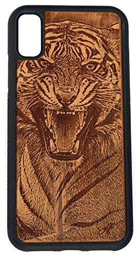 iPhone X Laser-Gravur Cherry Holz Handy Fall-von Foto von Bengal Tiger Lsu Laser