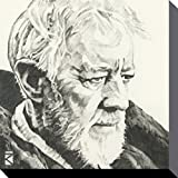 1art1 78832 Star Wars - Obi-Wan Kenobi Portrait Zeichnung Poster Leinwandbild Auf Keilrahmen 30 x 30 cm