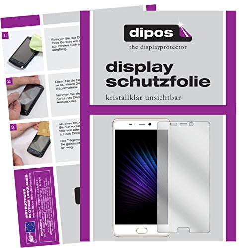 dipos I 2X Schutzfolie klar passend für Leagoo T5 Folie Displayschutzfolie