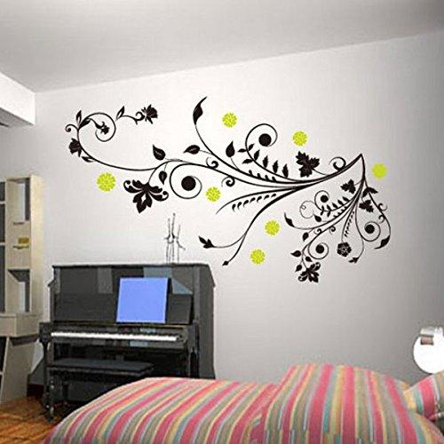 soledì-adesivo murales, carta da pareti ?fiori albero rami vite ... - Parete Decorazione Fai Da Te