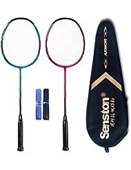 Senston qualité sets de badminton graphite raquette de badminton - Y compris 1 badminton sac/2 raquette de badminton/2 surgrip