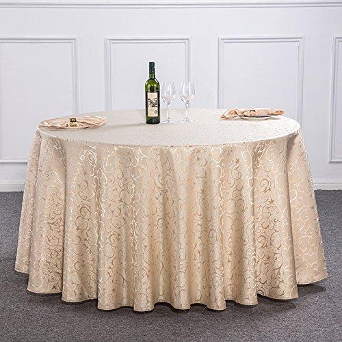 chdecke Home Overlay Hochzeit Küchentisch Tuch,LightYellow-diameter280cm ()