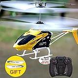 edahbjnest5mk RC Hubschrauber Kanal Mini RC Drohne mit Gyro Crashproof RC Spielzeug für Kinder Geschenk rot gelb, gelb