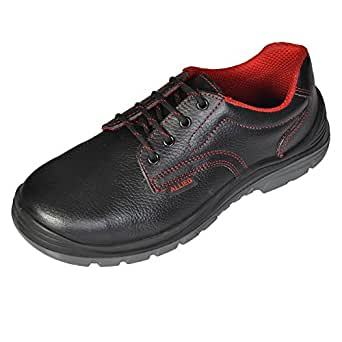 Allied Men's Houston Black Leather Safety Shoes