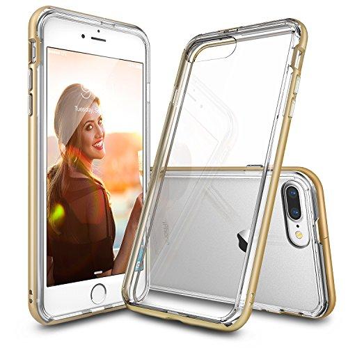 Custodia iPhone 7 Plus, Ringke [FRAME] A Doppio Strato di TPU + PC Bumper [Protezione Goccia] Cancella Torna Shock Assorbimento di Liquidi Bordo Curvo Migliorare Protettivo Paraurti per Apple iPhone 7 Plus 2016 - Royal Gold