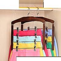 Xwuhan Solid Wood Pants Rack Home Multi-storey Hanger Multi-functional Hanging Rack-B