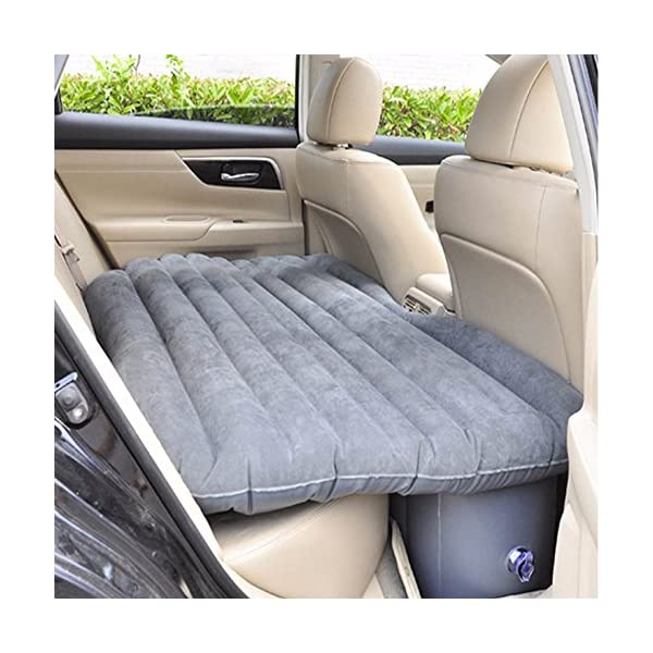 Shag Car Travel Air Bed PVC Inflatable Mattress Pillow Camping Universal SUV Back Seat Couch with Repair Bag Compression…