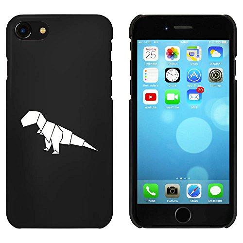 Azeeda Schwarz 'Origami T-Rex' Hülle für iPhone 7 (MC00067055) T-rex-mobile Handy