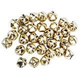Metal Jingle Bells for Christmas Decoration Jewellery Making Craft 10mm Pack of Approx.100pcs Bronze