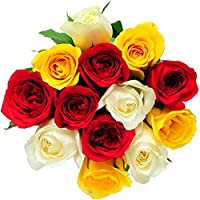 Floral Fantasy Fresh Flower Bouquet (Bunch Of 12 Mix Roses)
