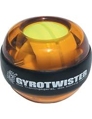 GyroTwister Classic - Aparato de entrenamiento para manos y brazos naranja/amarillo Talla:6,5 x 6,5 x 6,0 cm