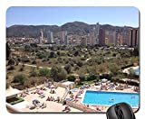 Rectangle Non-Slip Rubber Mouse Pad(9.45x7.8x0.12 Inches) Benidorm Holiday Pool Sunshine People Resort