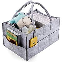 CLE DE TOUS - Portatil Bolsa para pañales Bolsa organizador Fieltros Bolsa de almacenamiento de fieltro con compartimentos para niños bebé juguetes