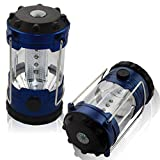 Sidiou Group High Brightness Rechargeable Camping Lantern Solar Camping Lighting 6 LED Solar Lantern Solar Portable Lights with USB and Charger Cable