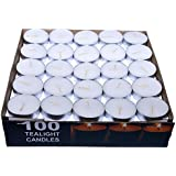 Paras Wax Tealight Candle (White, Set Of 100)