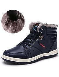 Paragon Hommes Bottes Fourrées Hiver Cuir Bottines de neige Homme  Chaussures montantes sneakers Baskets mode d3aebfee24a6