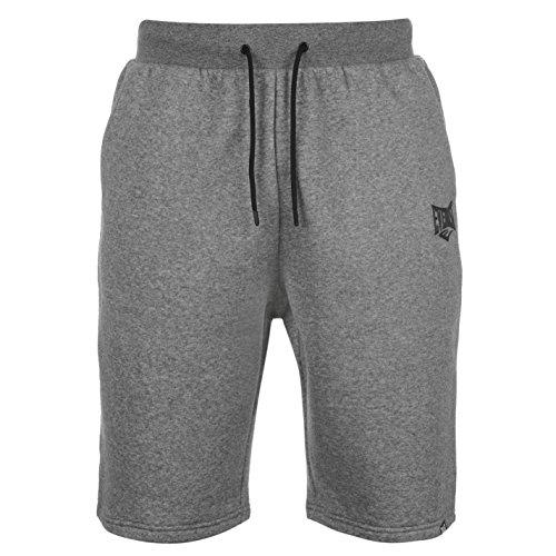 Everlast Herren Shorts Freizeit Kurze Hose Kordelzug Taschen Elastischer Bund Grau Meliert Medium (Baumwoll-shorts Everlast)