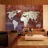 murando Papier peint intissé 250x193 cm - Top vente - Papier peint - Tableaux - muraux - déco - XXL - 250x193 cm - carte du monde - 10040910-10