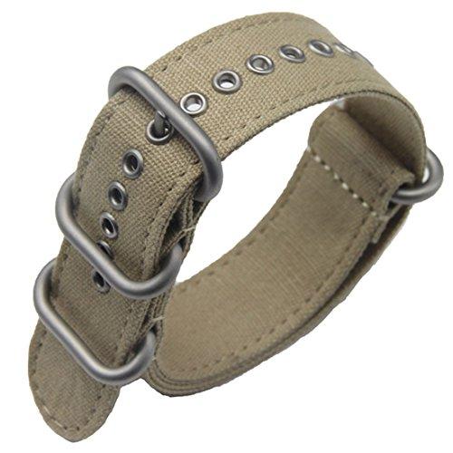 24 millimetri kaki militare di lusso esotico nylon tela NATO sostituzione...