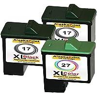 Premium Set di 3 cartucce di inchiostro compatibile con Lexmark