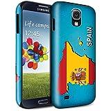 STUFF4 Brillo Duro Carcasa/Funda a Prueba de Golpes para el Samsung Galaxy S4/SIV / serie: Naciones bandera - España Español