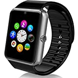 Zomtop Wearable Bluetooth Smart Watch GT08 Smart Health Wrist Watch Phone with SIM Card Slot for Android Samsung HTC LG SONY [Full Functions] IOS iPhone 5/5s/6/plus[Partial functions](Black)