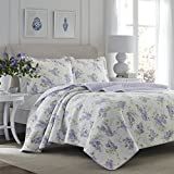 Laura Ashley Keighley lila Quilt Set, Lilac, King Size