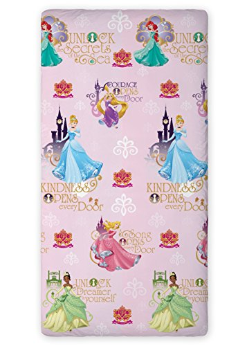 princess-fitted-sheet-90-x-200-cm-100-cotton-great-decoration-disney-ariel-cinderella-tiana-aurora