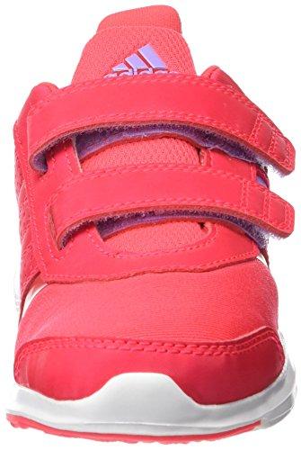 adidas Hyperfast 2.0 Cf K, Mocassins Garçon, Shock Red / Purple Glow / Ftwr White, 28 EU Rojo / Morado / Blanco (Rojimp / Brimor / Ftwbla)