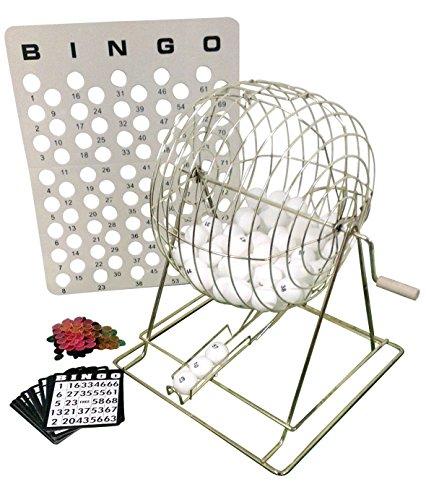 Löwe Spiele & Gifts Europa 30,5cm Löwe XI Bingo Set mit einem Käfig aus Metall (Bingo-käfig Set)