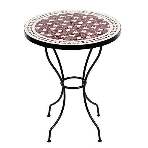 albena Marokko Galerie Marokkanischer Mosaiktisch Maar 60cm rund Gartentisch Bistrotisch Terrassentisch Fliesentisch Mediterraner Tisch …