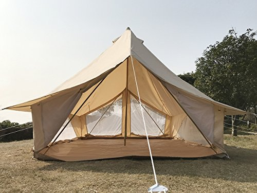 Cozy House Large 4 Season Family C&ing Bell Tent ... & Cozy House Large 4 Season Family Camping Bell Tent Safari Tent for ...