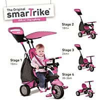 New Pink Smart Trike Glow 4-In-1 Child Tricycle Baby Ride-On Stroller 6402200 by Smart Trike