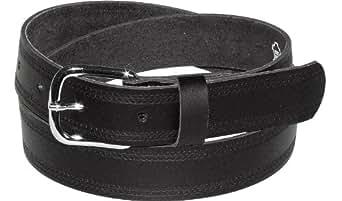 Ledergürtel 3cm breit schwarz! Überlänge bis 180 cm, Bundweite:85