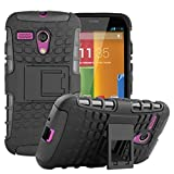 Per Motorola Moto G (solo prima generazione), robusta custodia protettiva, a doppio strato, funzione cavalletto