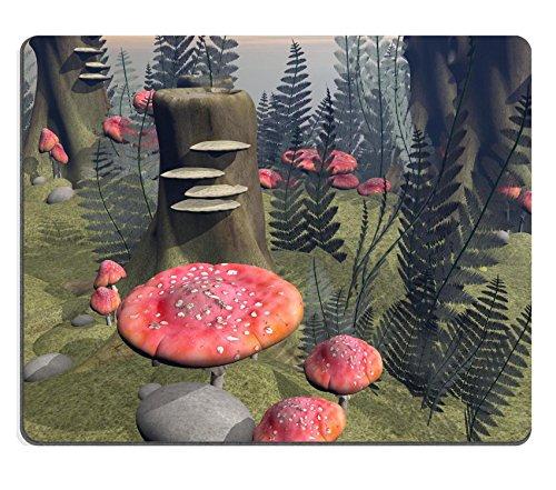 Preisvergleich Produktbild Liili Mauspad Naturkautschuk Mousepad Bild-ID: 17903007viele Fliegen-Pilze Blätter und Steinen in the Forest