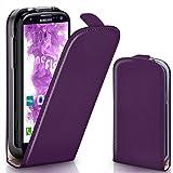 moex Samsung Galaxy S3 | Hülle Lila 360° Klapp-Hülle Etui thin Handytasche Dünn Handyhülle für Samsung Galaxy S3 / S III Neo Case Flip Cover Schutzhülle Kunst-Leder Tasche