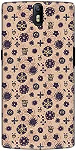 The Racoon Grip printed designer hard back mobile phone case cover for Oneplus One. (flat flowe)