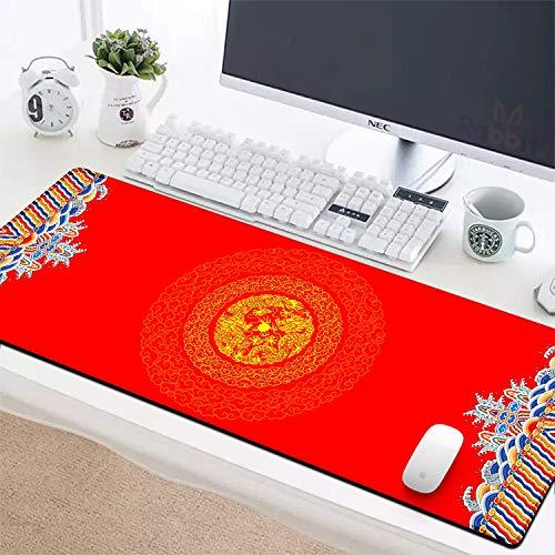 Mauspad übergroßen chinesischen Stil Tischset Tastatur Pad Beijing Red Wall Palace Studenten Laptop Mauspad 900x400mm-3mm V A/v Component Wall