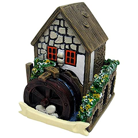 White Miniature Fairy House With Water