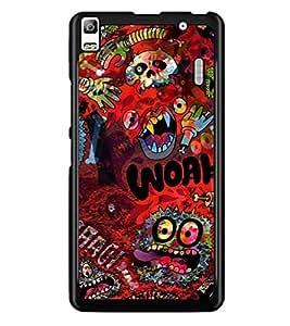 PrintDhaba Graffiti D-3844 Back Case Cover for LENOVO A7000 TURBO (Multi-Coloured)