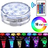 Albacom LED Scheinwerferkit mit Farbwechsel Funktion und Fernbedienung, Multi Farbwechsel Wasserdicht batteriebetrieben Stimmung Night