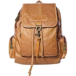 Coofit Damas PU Cuero Vintage Mochila Escolar Daypacks
