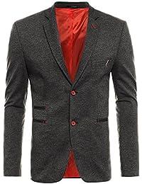OZONEE Herren Sakko Klassische Sweatjacke Business Anzug Jacket Blazer Sakko OZN 009