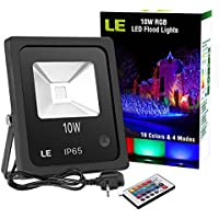 Amazon colour changing flood spot lighting outdoor le 10w rgb led flood lightsremote controlcolour changing led security light aloadofball Gallery