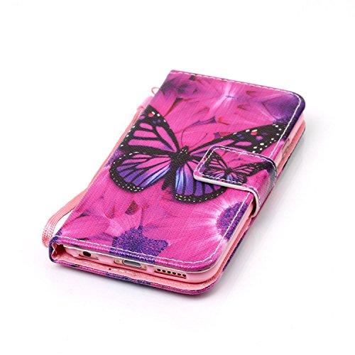 PU Coque Cuir Pour Apple iPhone 6 (4.7 pouces), Fermeture Aimantée fente pour carte Wallet de Motif Imprimé Étui Housse en Cuir Ultra-mince Avec La Fonction Stand Pour Apple iPhone 6 (4.7 pouces) +Bou 6