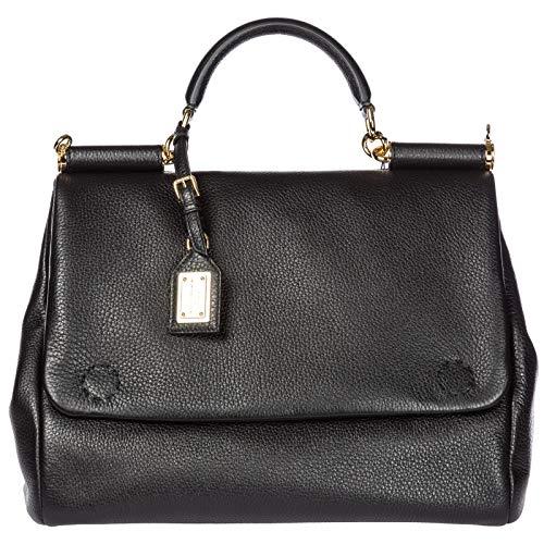 Dolce&Gabbana borsa donna a mano shopping tote in pelle nuova Sicily tote nero
