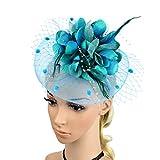 Tinksky Pluma flor nupcial nupcial headdress nupcial pluma hairclip boda headpiece cóctel fiesta...