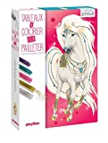 Mes tableaux à colorier et à pailleter - Animal Style - Chevaux scintillants...
