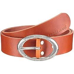 Cross - Cinturón para mujer, talla 75 cm, color cognac